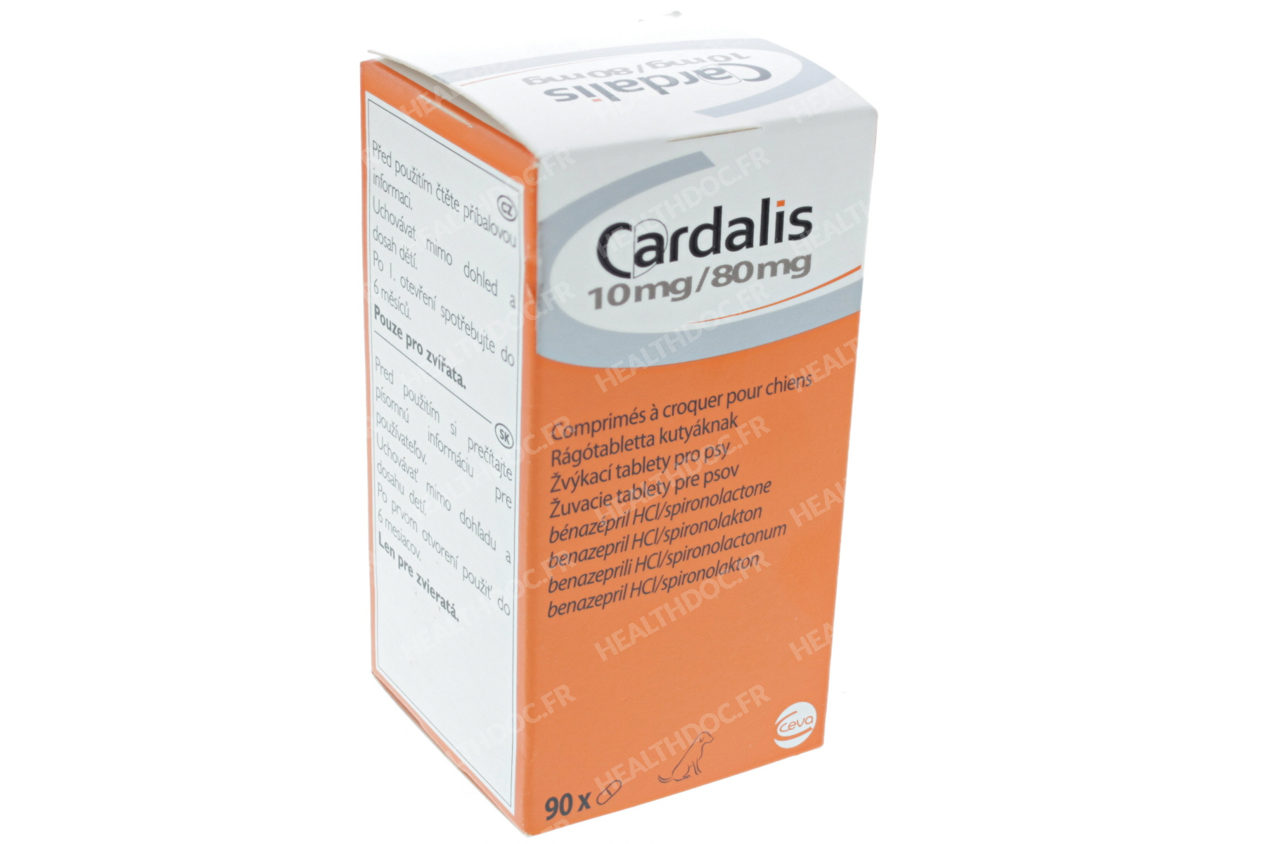 CARDALIS 10 MG/80 MG COMPRIMES A CROQUER POUR CHIENS